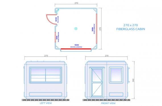 Cabine modular 270x270cm