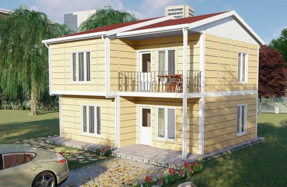 Casa Comunitária Pré-fabricada de 137 m2