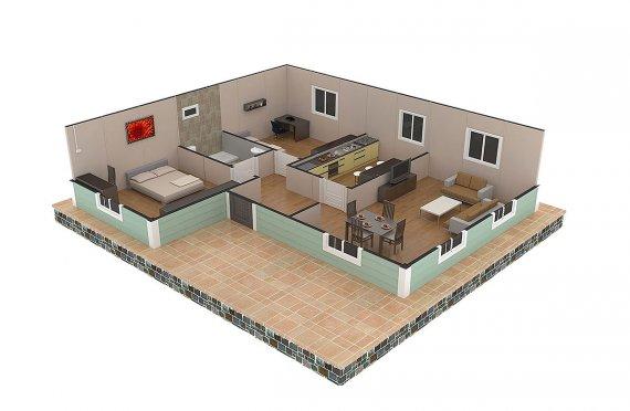 Casa préfabricada 86m²