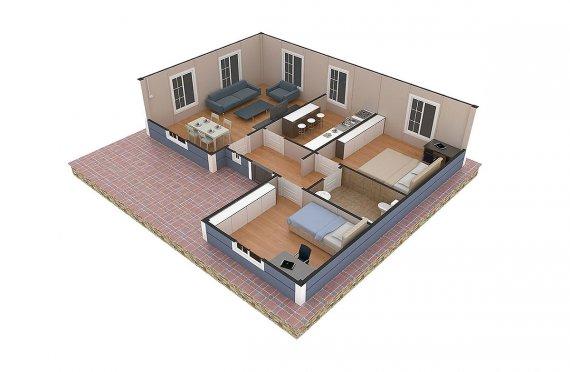 Casa préfabricada 87m²
