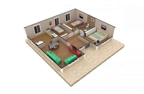 Casa préfabricada 94m²