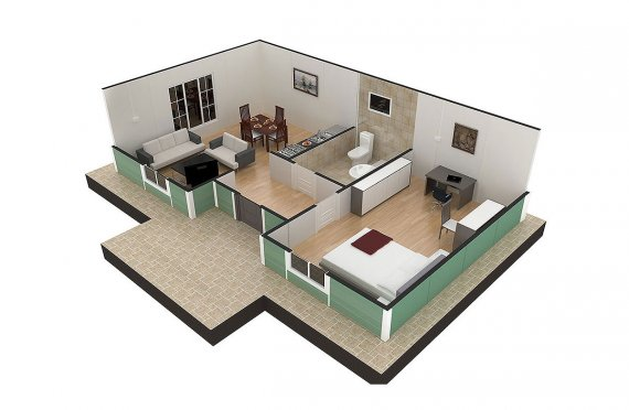 Casa prefabricada 51m²