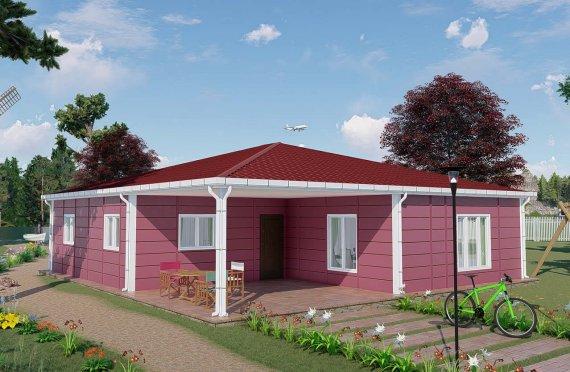 Casas de Verão Modulares com 123 m2