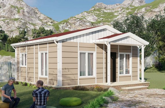 Casas Modulares de Um Piso, Modelo Nostalgia, 45m2