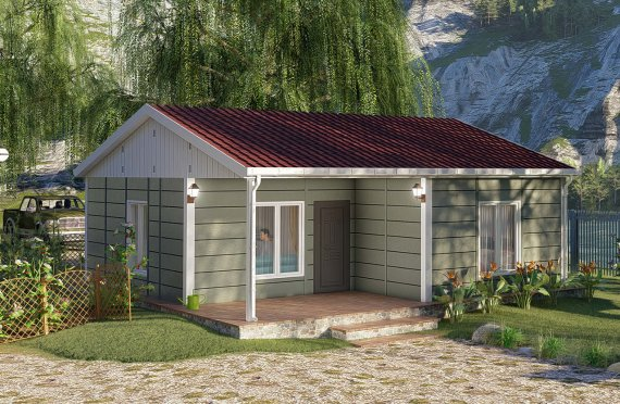 Casas Modulares de Um Piso, Modelo Willow, 64m2
