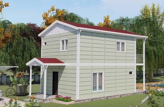 Casas Pré-fabricadas de Dois Pisos com 91 m2