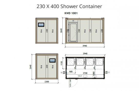 Contentor banheiro kw4 230x400