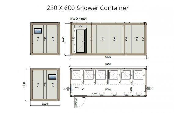 Contentor banheiro kw6 230x600