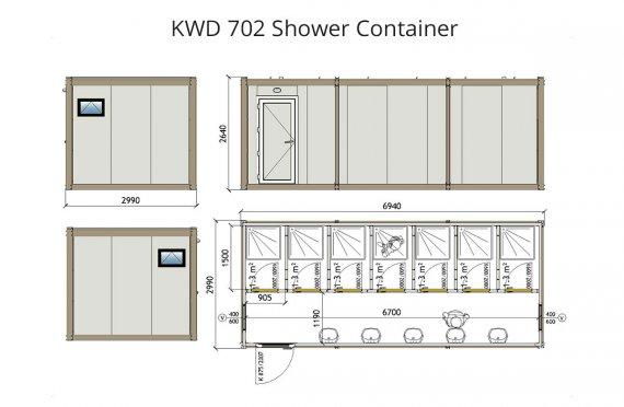 Contentor banheiro kwd 702