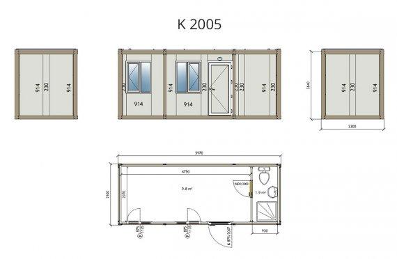 Contentor flatpack k2005