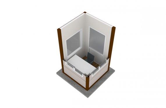 Cabine moderna pré-fabricada 150x150