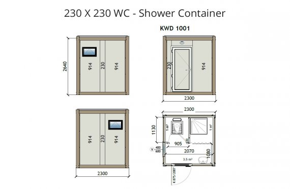 Contentor wc kw2 230x230