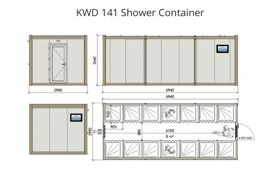 Contentor wc kwd 141