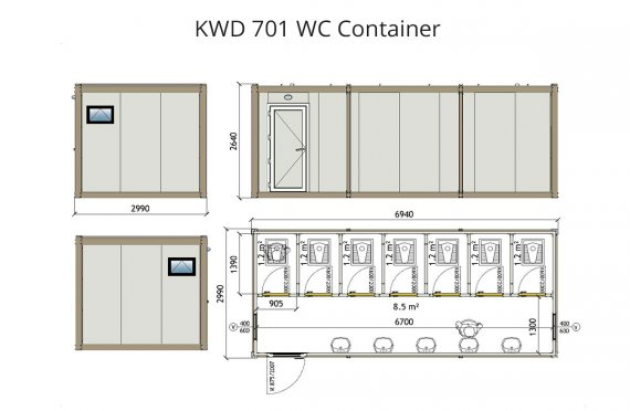 Contentor wc kwd 701