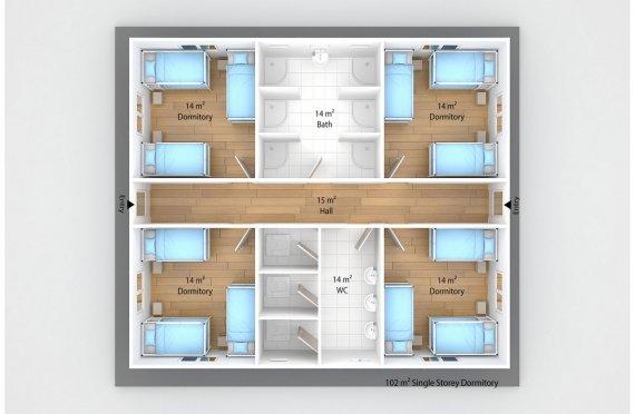 Alojamento modular 102m²