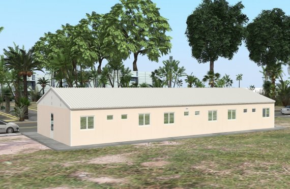 Dormitório préfabricado 204m²