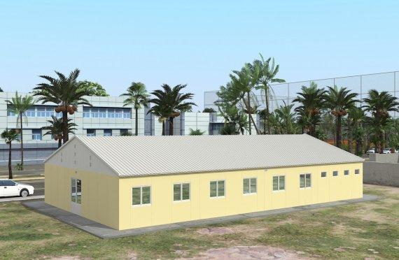 Dormitório préfabricado 232m²