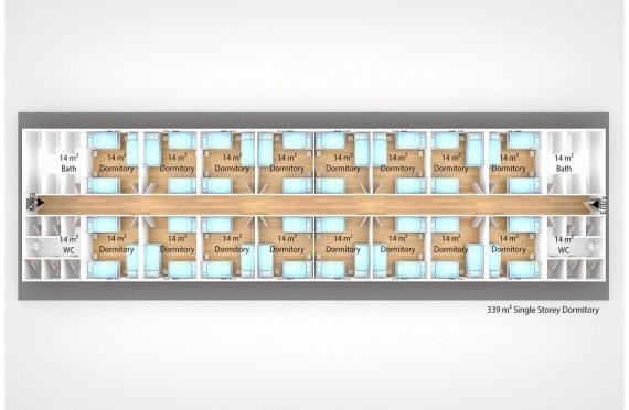 Dormitório modular 339m²