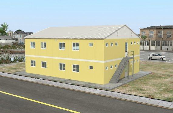 Dormitório préfabricado 348m²