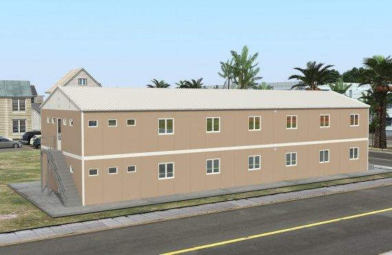 Dormitório préfabricado 474m²