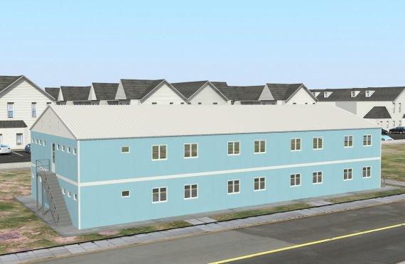 Alojamento - dormitório préfabricado 736m²