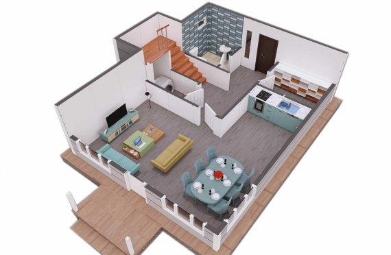Duplex Pré-fabricado com Aspeto Clean, 126 m2