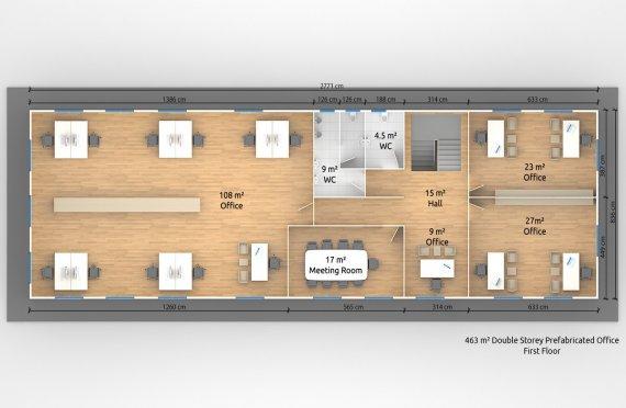 Escritório modular 463m²