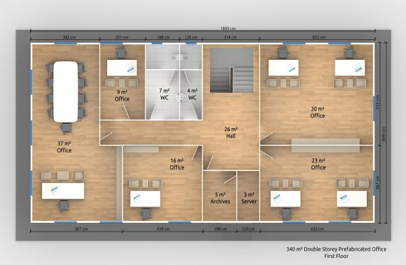 Escritório modular 340 m²