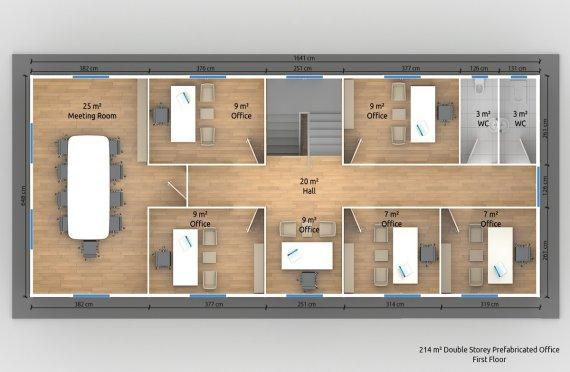 Escritório modular 214m²