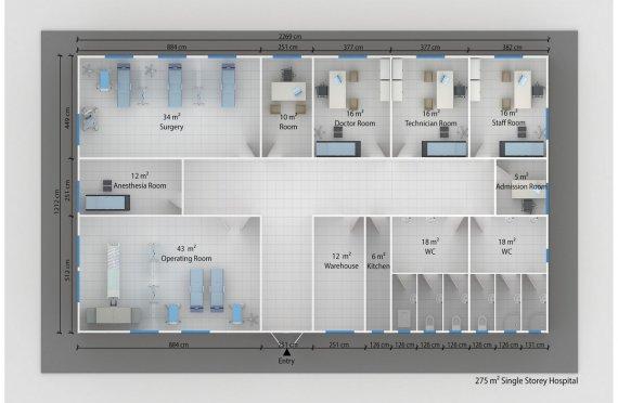 Hospital modular 275m²