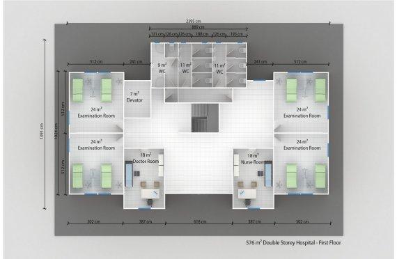 Hospital modular 576m²