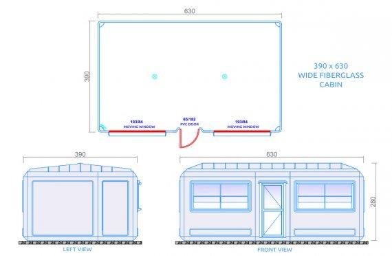 Cabines amplas móveis 390x630