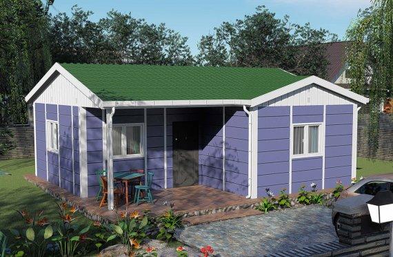 Pequenas Casas Modulares com Um Piso, 51m2