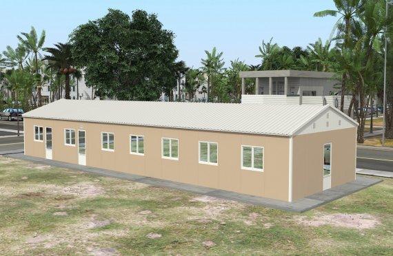 Refeitório préfabricado 139m²