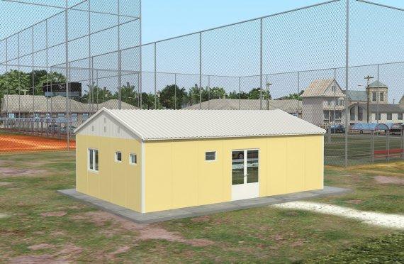 Refeitório préfabricado 65m²