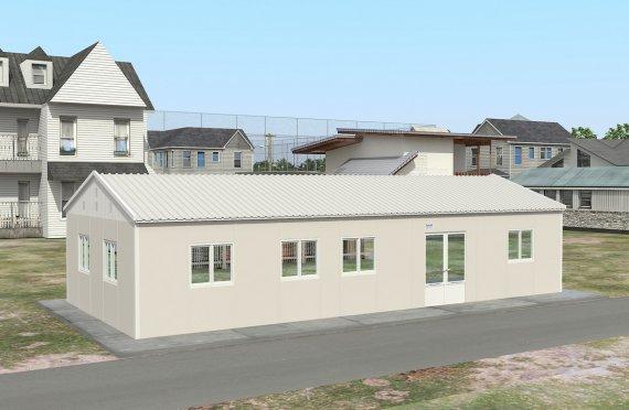 Refeitório préfabricado 98m²