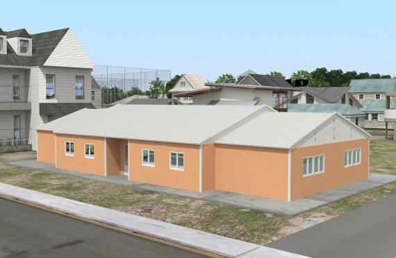 Salas de aula pré-fabricadas 272 m²