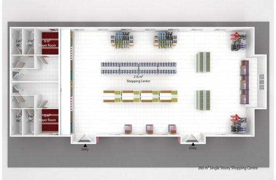 Supermercado modular 260m²
