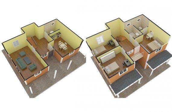 Vila préfabricada 148m²