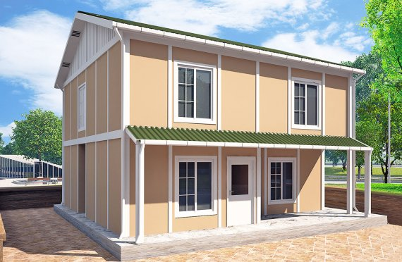 Casa préfabricada 127 m²