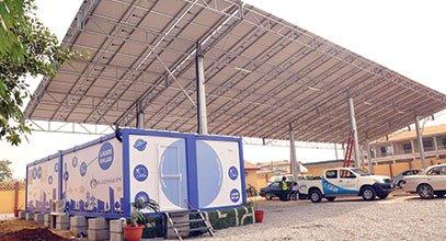 Os contentores da nova geração da Karmod são usado para armazenamento de energia solar na Nigéria