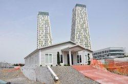 Foram instalados edifícios de escritórios de informações e vendas em Kartal