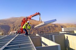 Edifícios de estaleiro de obras construído para Anagold Mining na Turquia