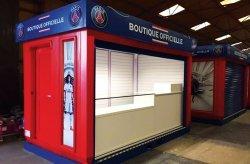 Karmod produziu quiosques de vendas do PSG