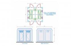 Planos de Cabine com Toalete / Banheiro