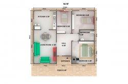 Planos de Casas Térreas Pré-fabricadas