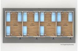 Planos de Dormitórios Pré-fabricados