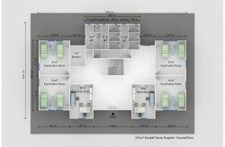 Planos de Edifícios Médicos Pré-fabricados