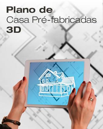 Plano de casa pre fabricada 3d